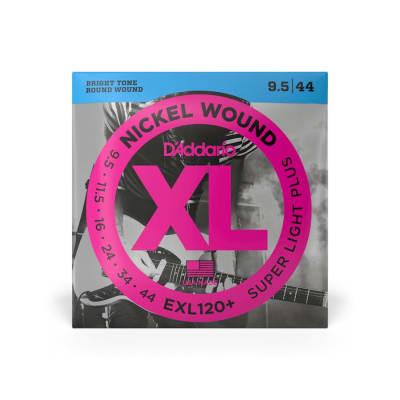 D'Addario EXL120+ Super Light Plus Gauge Nickel Wound Strings 9.5-44