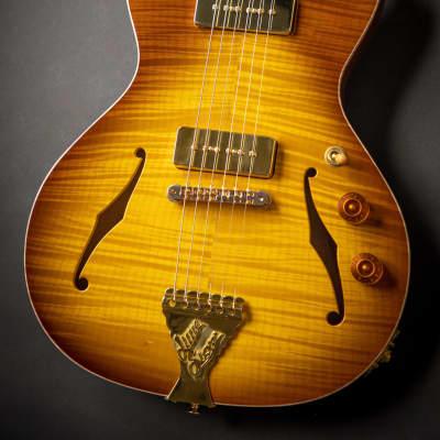 B&G Guitars Private Build Little Sister Honey Burst Cutaway P90 (2001957)