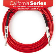 Fender California Instrument Cable, 20', Candy Apple Red