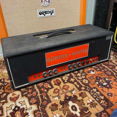 Vintage 1970s Simms Watts AP 100 AP100 100w MK2 Guitar Valve Amplifier Head for sale
