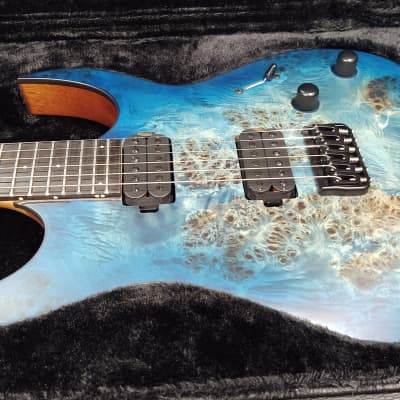 Solar S1.6BLBM Guitar, SS Frets, Neck-Thru, Solar Hard Case S1.6BLBM 2019 Blue Burl for sale