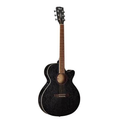 Cort SFX-AB Ash Burl Acoustic Electric Guitar Black for sale