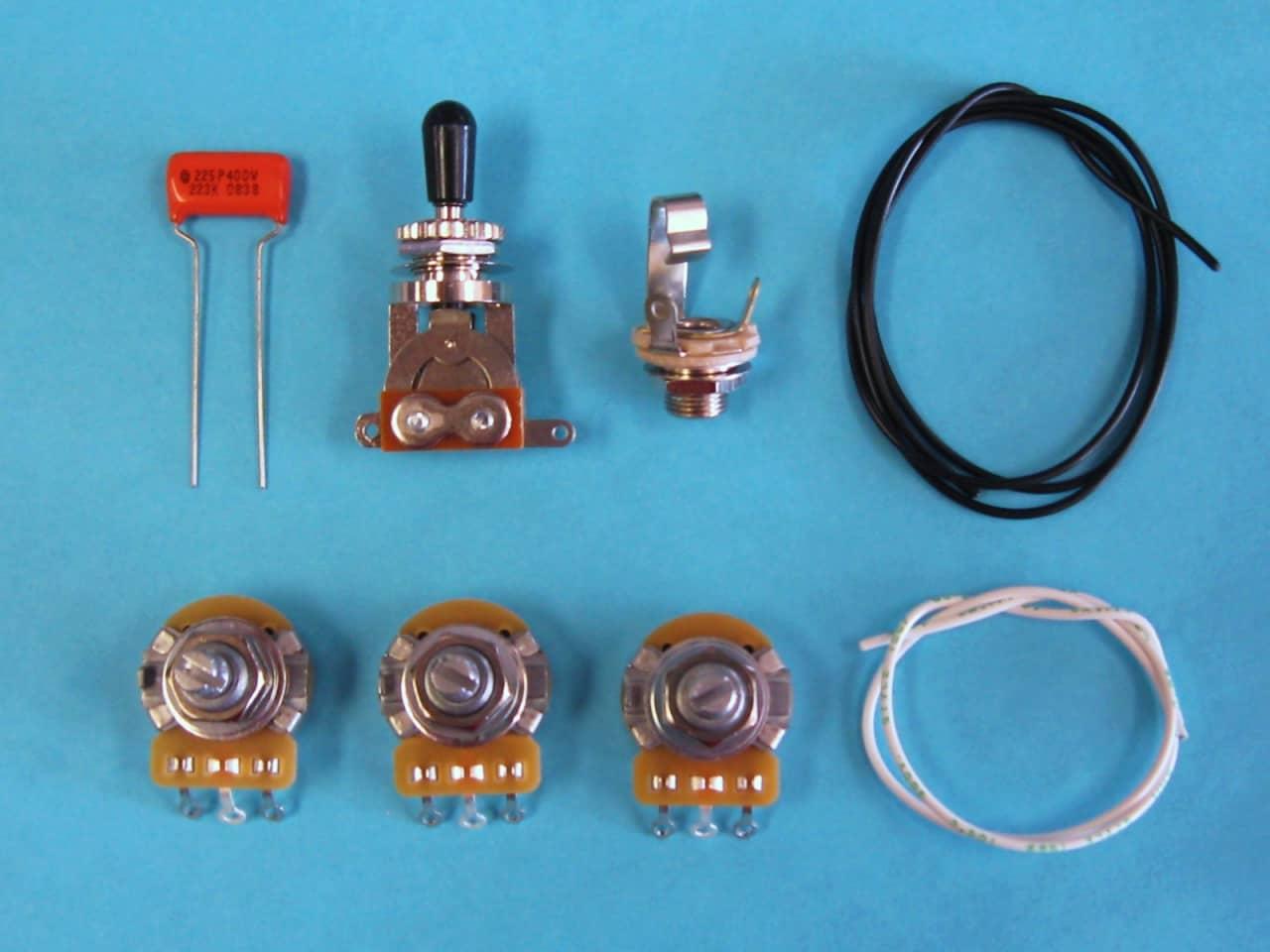AM Guitar Works 2 Volume 1 Tone 1 Toggle Guitar Wiring Kit | Reverb