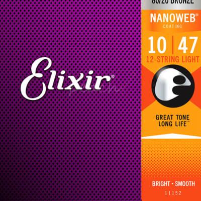 Elixir Acoustic Nanoweb 80/20 Bronze 12-String Light 10-47
