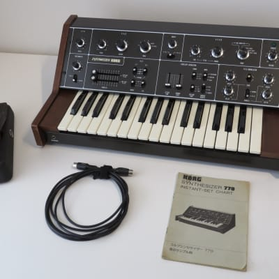 1970's Korg 770 Synthesizer and FK-4 Polyphonic Ensemble Pedal