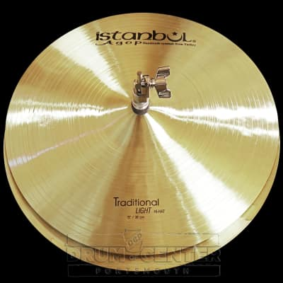Istanbul Agop Traditional Light Hi Hat Cymbals 15""