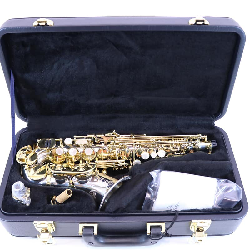 Yanagisawa Model SC-9937 Soprano Saxophone with Curved Solid Silver Body  BRAND NEW