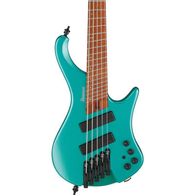 Ibanez EHB1005SMS Multiscale 5 String Bass, Emerald Green Metallic Matte for sale
