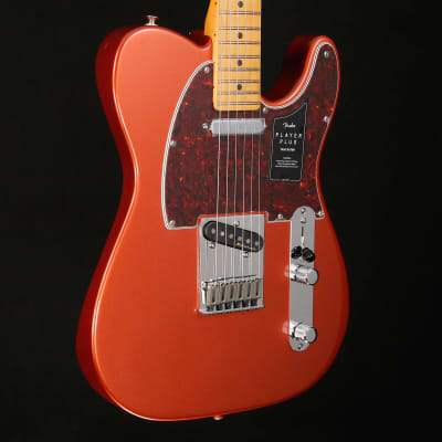 Fender Player Plus Telecaster, Maple Fingerboard, Aged Candy Apple Red 117 7lbs 14.9oz