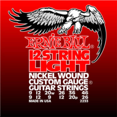Ernie Ball Light 12-String Nickel Wound Electric Guitar Strings - 9-46 Gauge