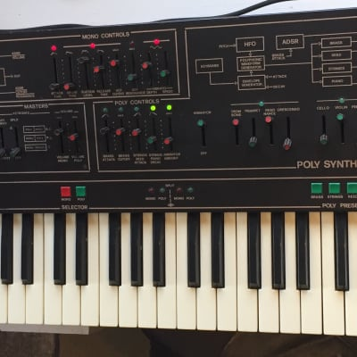 Siel Cruise Mono and Poly Rare ARP Quartet Analog Synthesizer Sequential Circuits Fugue