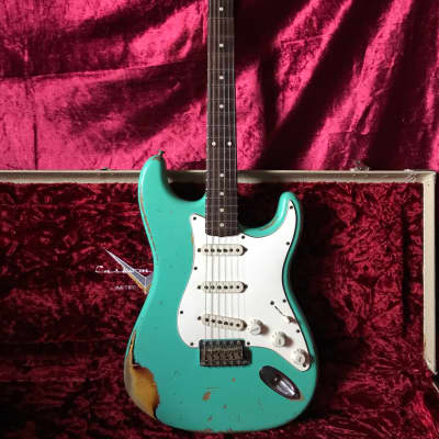 Fender '62 Stratocaster Custom Shop NAMM Heavy Relic 2008 LE Sea Foam Green Over 3 Tone Sunburst for sale