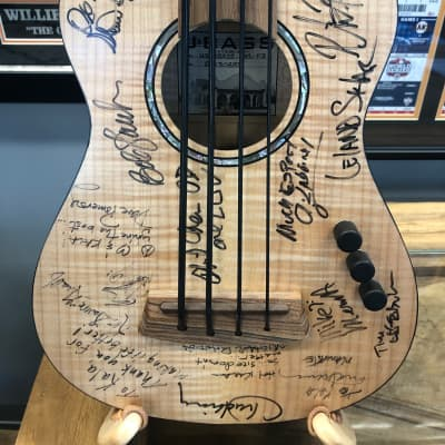Kala U-Bass Made in USA Solid flame maple Autographed by notable bassists