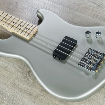 Fender Flea Signature Active Jazz Bass Electric Bass Guitar Satin Inca Silver