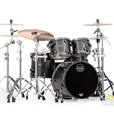 Mapex 4pc Saturn V MH Exotic Fusion Shell Pack Satin Black