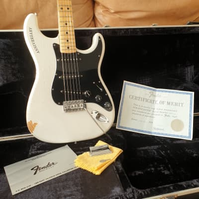 Collector's Item - All original Pearl White 25th Anniversary Fender Stratocaster #416 of first 500!! for sale