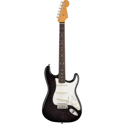 Fender Custom Shop American Custom Stratocaster NOS Ebony Transparent RW with Case, Strap and COA for sale