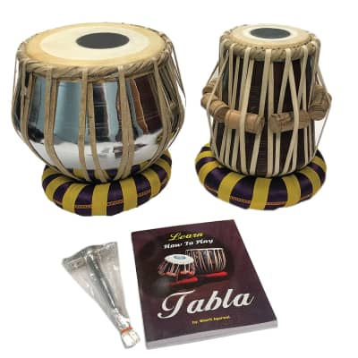 Satnam STEEL Bayan Hand Crafted Tabla Drum Set for Student and Beginners with Bag and Accessories