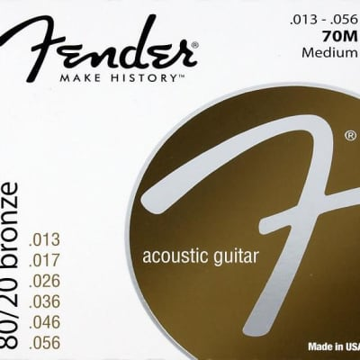 Fender Acoustic Strings - Medium / 80/20 for sale
