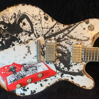 McSwain Guitars Fear and Loathing in Las Vegas with Ralph Steadman Artwork for sale