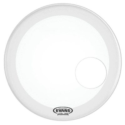 "Evans BD20RGCW EQ3 Resonant Coated White Bass Drum Head - 20"""