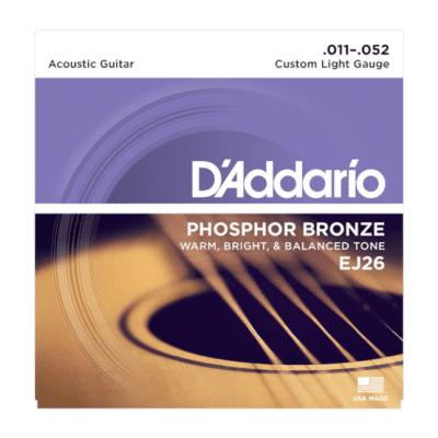 D'Addario EJ26 Phosphor Bronze Acoustic Guitar Strings, Custom Light Gauge Standard