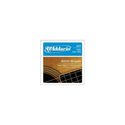D'Addario EJ11 12-53 80-20 Bronze Acoustic Strings