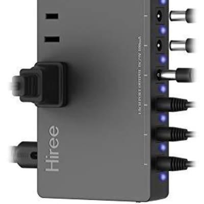 Hiree Guitar Pedal Power Supply - 10 Isolated DC Output for 9V/12V/18V