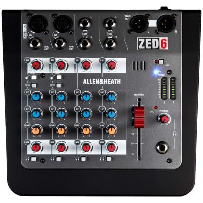 Allen & Heath ZED-6FX Compact 6-Input Mixer w/ Effects