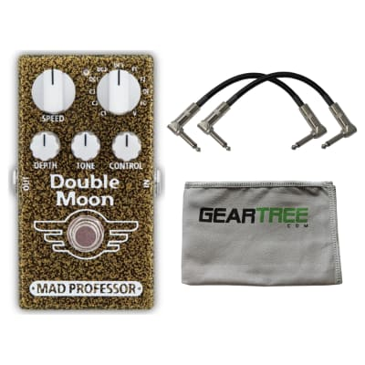 Mad Professor Double Moon Modulation Pedal w/ Patch Cable and Geartree Cloth