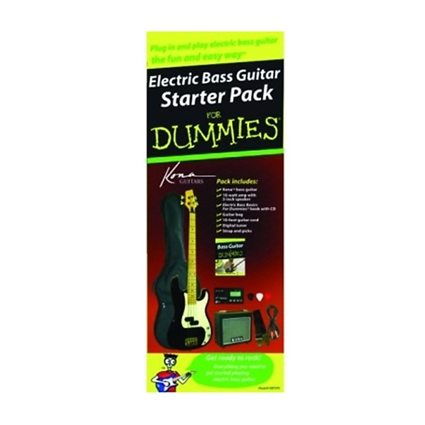 kona bass guitar for dummies pack with 10 watt amp 10ft reverb. Black Bedroom Furniture Sets. Home Design Ideas