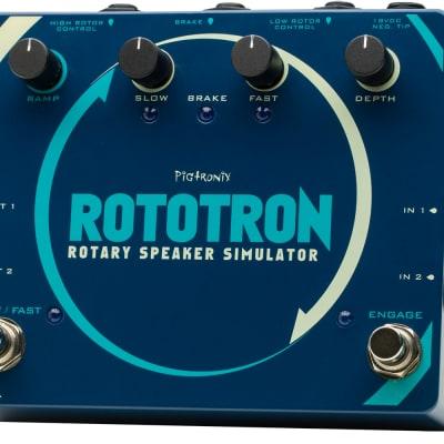 Pigtronix Rototron Analog Rotary Speaker Emulator Phase Shifting Effect Pedal Mint w/ Box