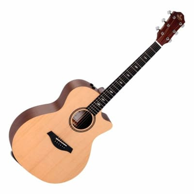 Sigma Acoustic Guitar Grand OM Solid Spruce Top with Pickup GMCE-1 for sale