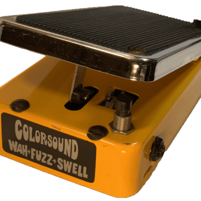 Colorsound Wah-Fuzz-Swell 1970s yellow for sale