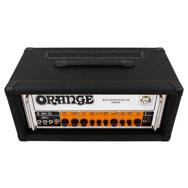 orange rockerverb mkiii amp head 50 watts black reverb. Black Bedroom Furniture Sets. Home Design Ideas