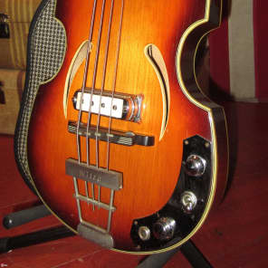 Vintage Circa 1967 Klira Twen Star 500/1 Beatle Bass for sale
