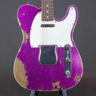 1960 Fender Custom Telecaster  Heavy Relic Magenta  Sparkle for sale