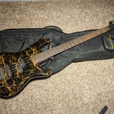 1988 Aria Pro II XRB-2A active 4 String Electric Series Bass- Vintage -Rare - Custom Crackle Finish for sale