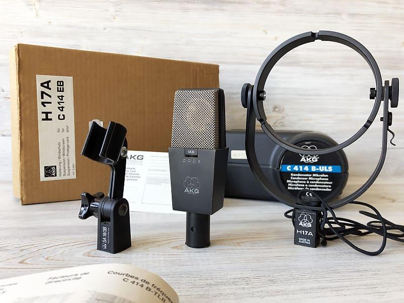 1987 akg c414 b uls condenser microphone full vintage set reverb. Black Bedroom Furniture Sets. Home Design Ideas