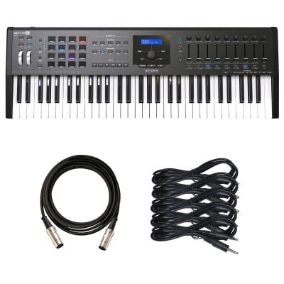 Arturia KeyLab MkII 61 MIDI/USB/CV Controller - Black - Cable Kit