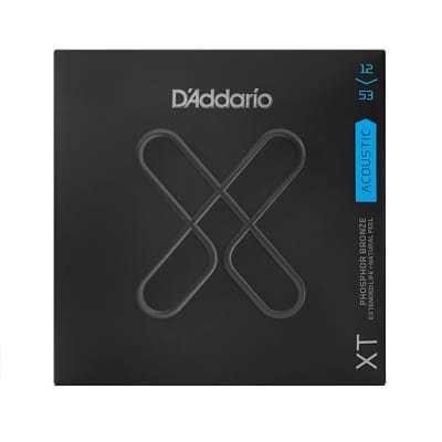 D'Addario XT Acoustic Phosphor Bronze Strings, Light, 12-53