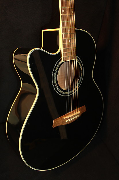 Ibanez Ael10le Acoustic Electric Left Handed Black Reverb
