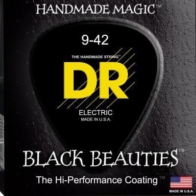 DR Strings BKE-9 Black K3 Coated Electric Strings - Lite, 9-42 for sale