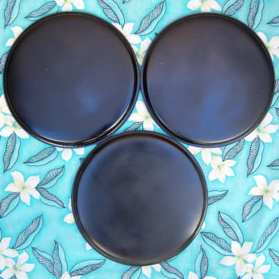 """Remo 11"""" Drum Heads \ Lot of 3 Black"""