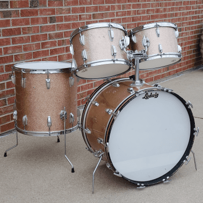 """Ludwig No. 983-1 Hollywood Outfit 8x12 / 9x13 / 16x16 / 14x22"""" Drum Set 1960s"""