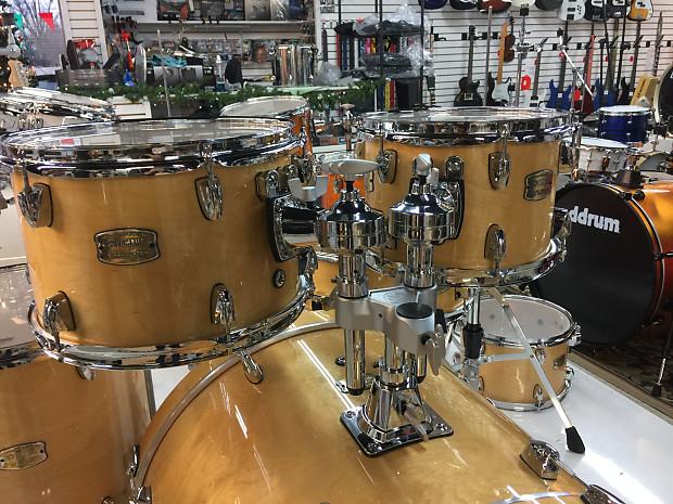 Yamaha Stage Custom Birch Drum Set Natural Wood 6 Piece Shell Reverb