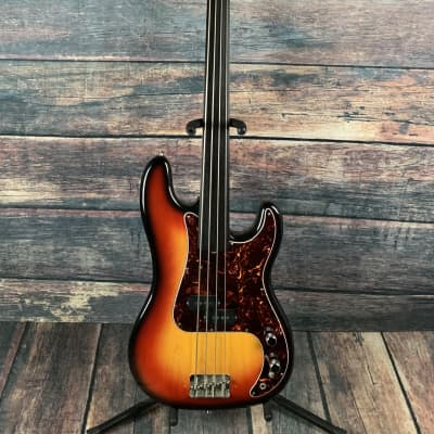 Used Hohner MIJ Fretless 4 String Precision Bass with Gig Bag for sale