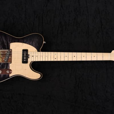 JPG (Josh Parkin Guitars) T90 (Mega Maple) - Tele Telecaster Type Guitar 2019 Trans Black for sale