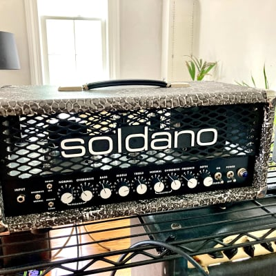 Soldano SLO-30 Classic 30-Watt Guitar Head - Custom Snakeskin w/ Black Control Panel for sale
