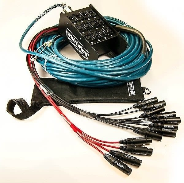Microphone Cable Snake : Whirlwind medusa elite audio snake mic inputs xlr